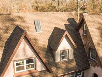 House with asphalt shingles