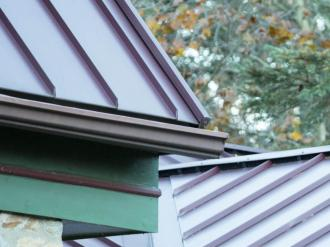 House roof with gutters